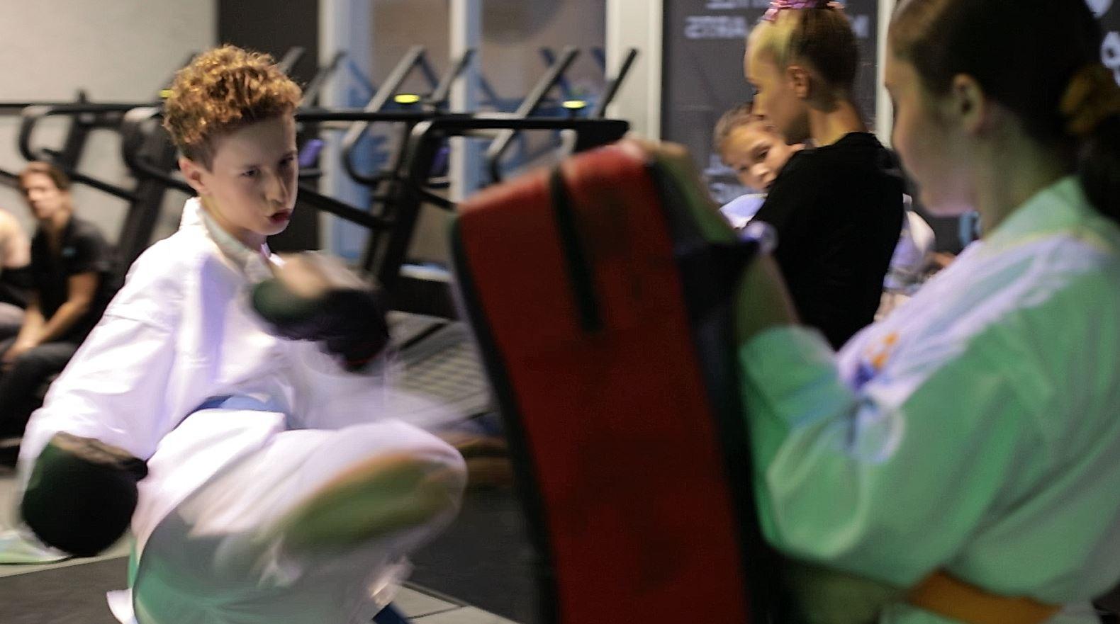 Bushidokai Karate Class Kick shield